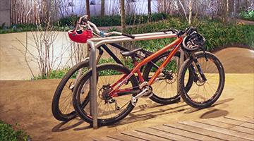 Cykelog bicycle stand by Burri Public Elements, 2015. Design: Jacob Würtzen