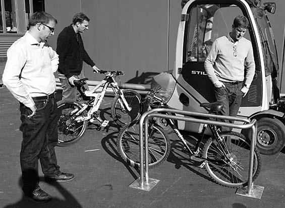 CYKELOG prototype, Burri Public Elements, Glattbrugg. November 2014
