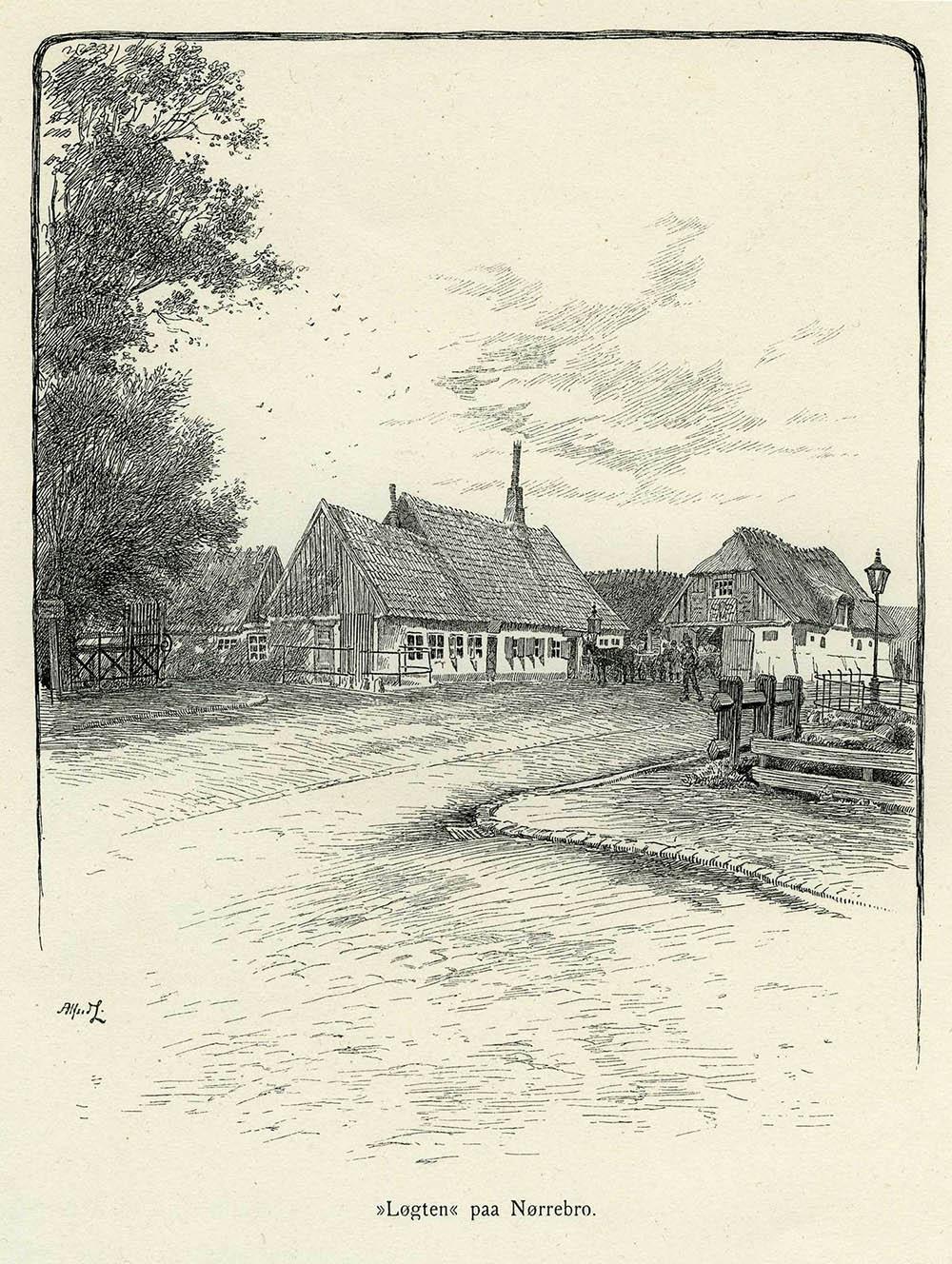 Gæstgivergården Lygten, Nørrebro ca. 1895