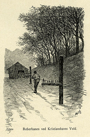 Reberbane, Christianshavns Vold ca. 1895