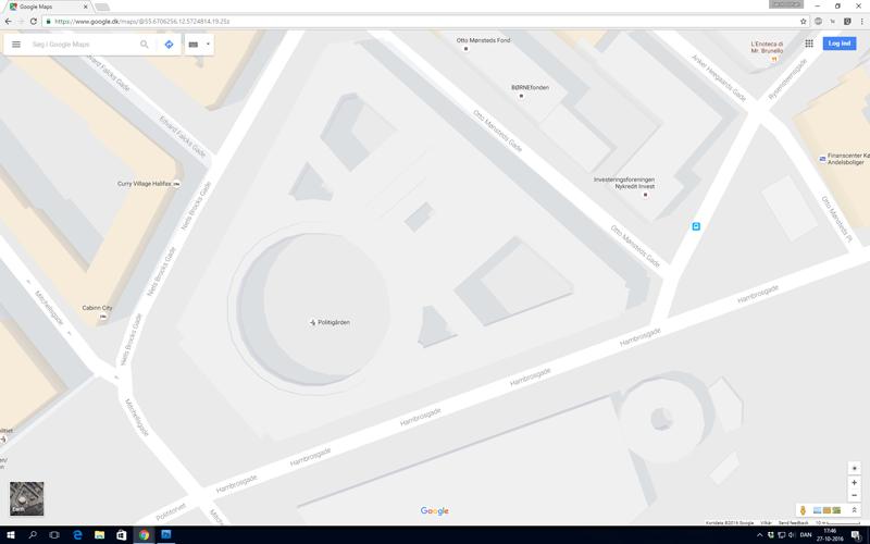 Google Maps med Politigården
