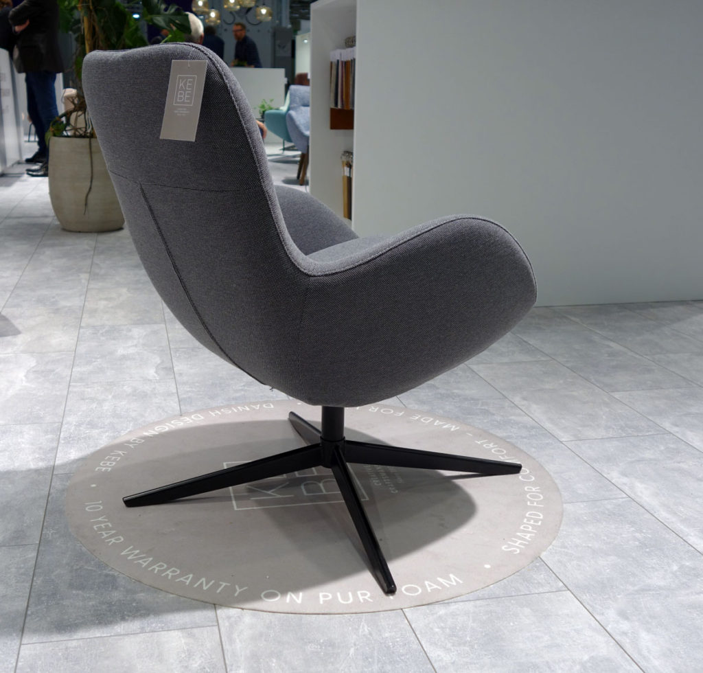 Gambler side chair by KEBE, From the side. IMM Cologne 2018. Design: Jacob Würtzen