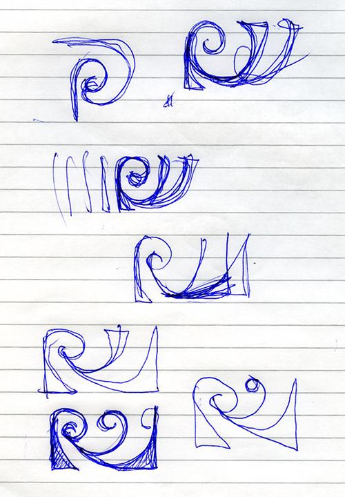 RW-logo skitser, Jacob Würtzen 2005